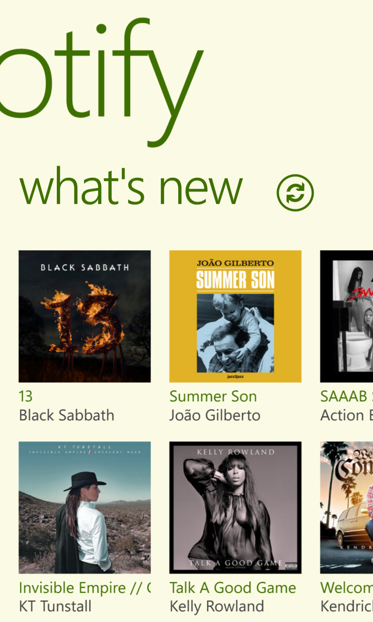 Spotify on Windows Phone Nokia Lumia 920