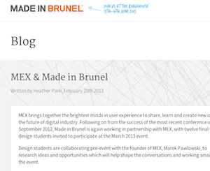Working with Brunel University