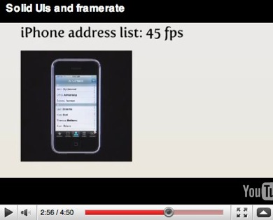 Video on latency and solid UIs